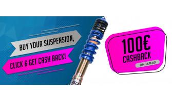 CashBACK 100 € po zakúpení výškovo nastaviteľných podvozkov AP SPORTFAHRWERKE