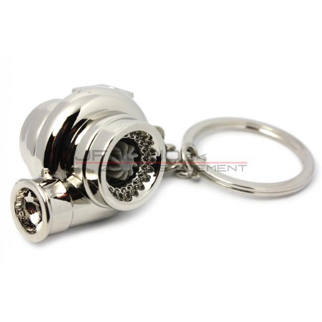 Prívesok na kľúče - DOUBLE Turbo chrómové