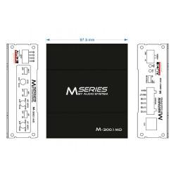 AUDIO SYSTEM M 300,1, MD 1 kanálový zosilňovač