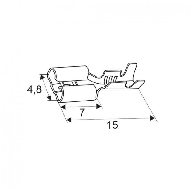 Pocínovaná lisovacia dutinka 4,8 mm zásuvka