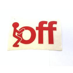 Fck off (červená)