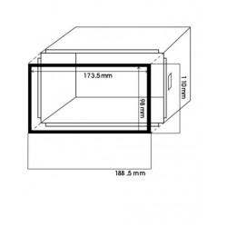 Rámček pre čínske rádio, univerzálny plechový rámček 06