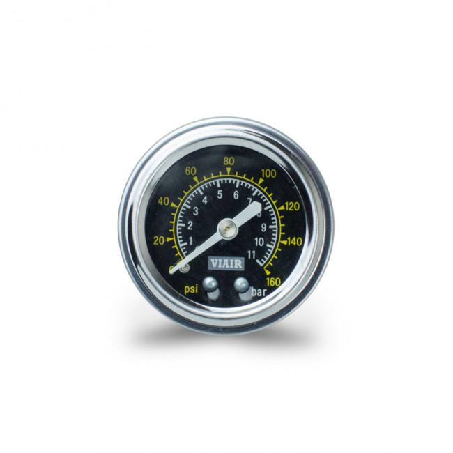 """VIAIR ukazovateľ tlaku 1,5"""" jednoručičkový čierny"""
