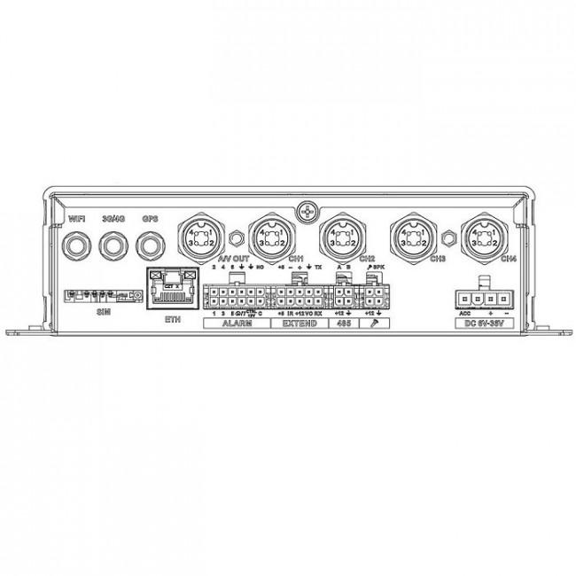Záznamové zariadenie mobile, 4ch, 1080P HDCVI/AHD/TVI/CVBS, H265 MXVR1004