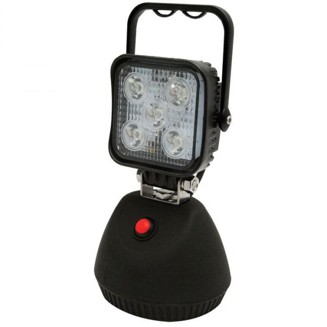 Pracovné LED svetlo ECCO, magnet, 5 x 3W LED, biele, EW2461